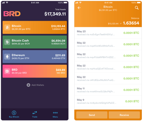 BRD wallet bitcoin stealthex