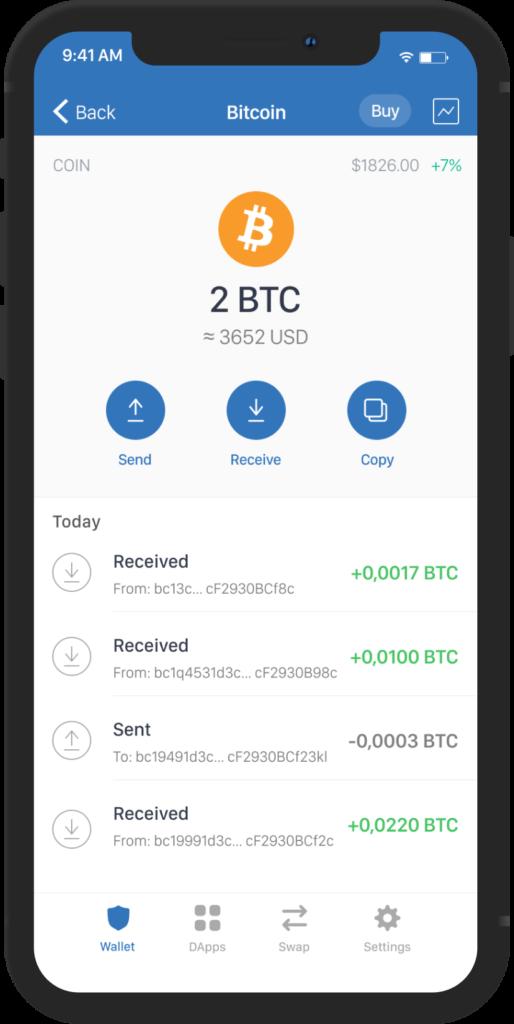 Trust wallet bitcoin stealthex