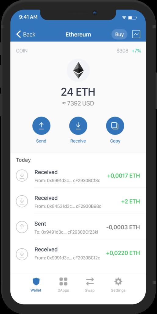 Trust Wallet Ethereum StealthEX