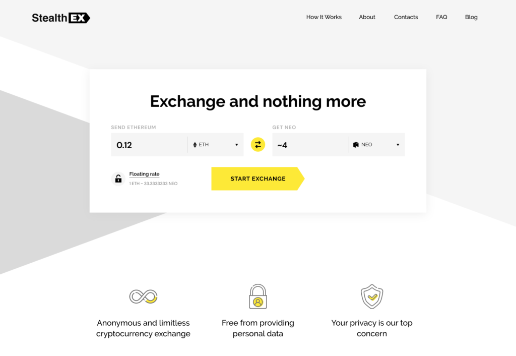 How to buy Neo coin on StealthEX. Tutorial article. main