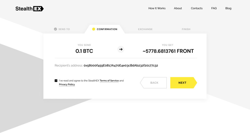 Where To Buy Frontier Crypto? Article by StealthEX Confirmation Exchange