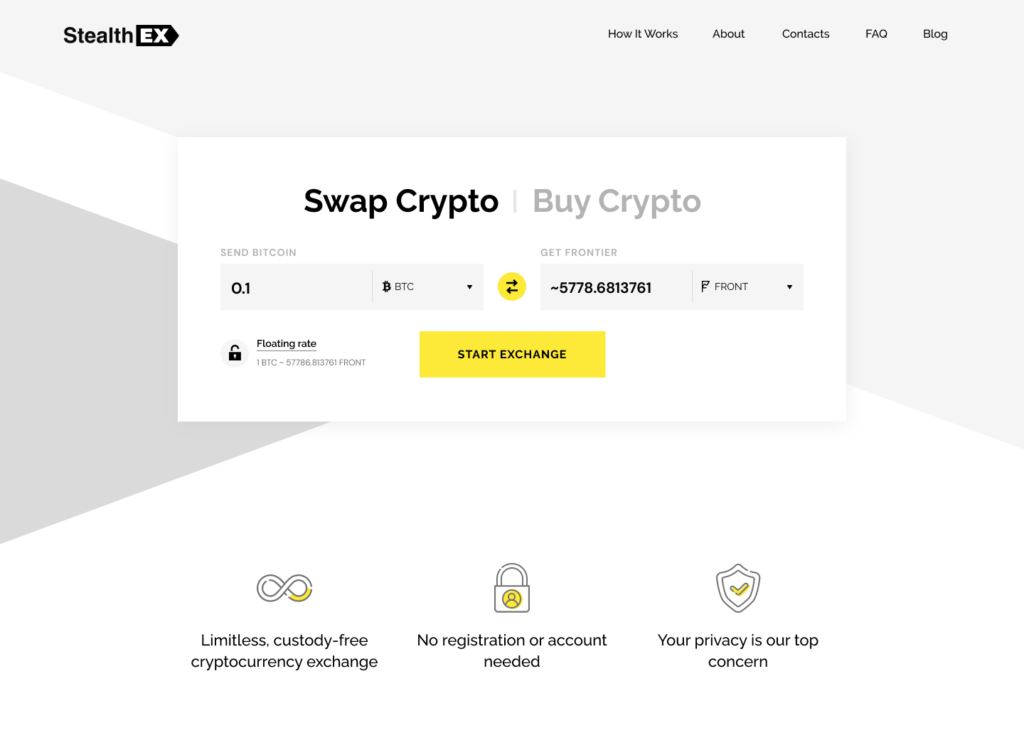 Where To Buy Frontier Crypto? Article by StealthEX Home_new