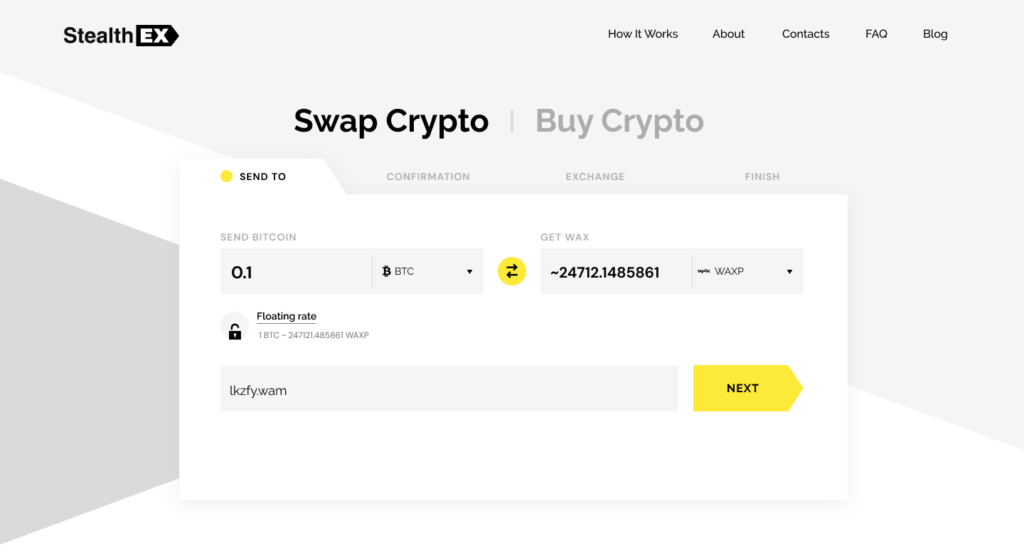 How To Buy Wax Crypto. Article by StealthEX Send to Exchange