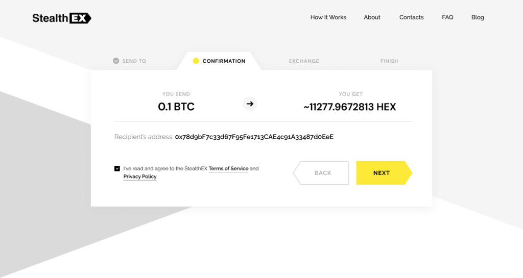 How to buy HEX coin. Article by StealthEX Confirmation Exchange