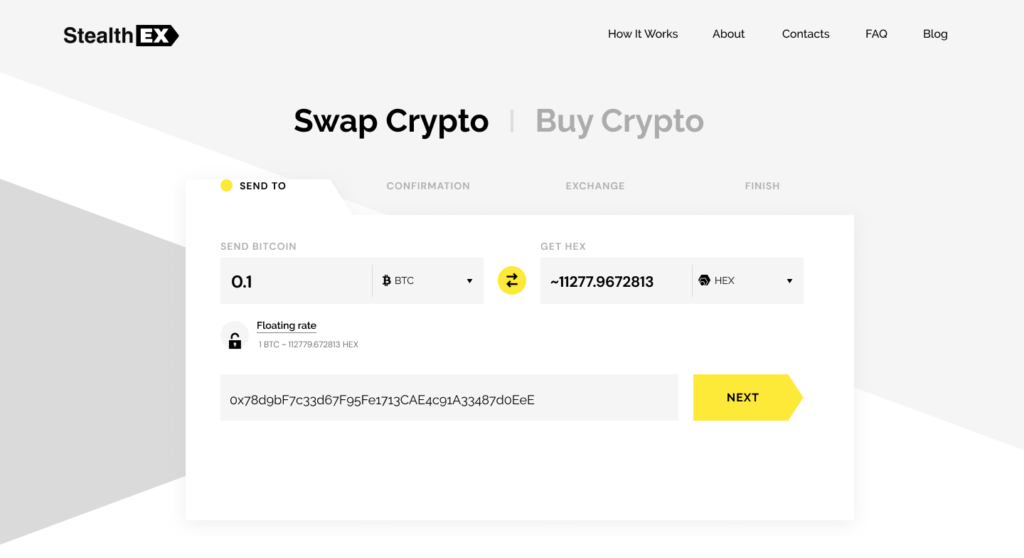 How to buy HEX coin. Article by StealthEX Send to Exchange
